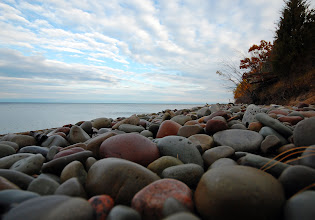Photo: Smooth stones line the beach at Rainbow Shores on the eastern edge of Lake Ontario in Pulaski, NY.
