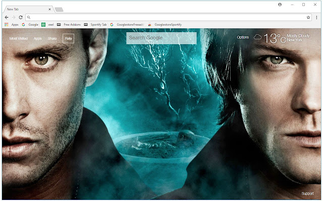 Supernatural HD Wallpapers TV Shows New Tab