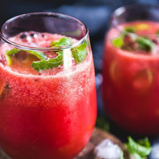 Watermelon Ginger Juice.