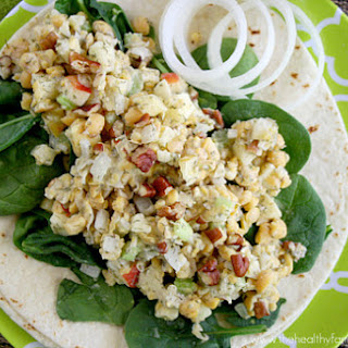 Vegan Chickpea Apple Pecan Salad