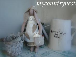 Photo: coniglietta tilda piccola con borsina e orsetto