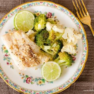 Roasted Cod with Broccoli & Cauliflower