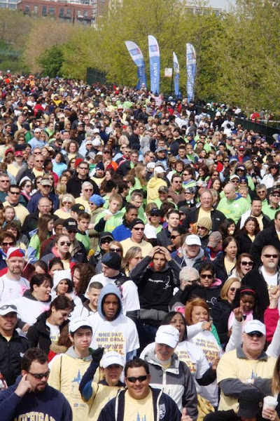 Photo: Walkers took their mark to start the 5 mile trek along Chicago's beautiful lakefront.