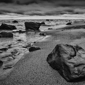 Gitche Gumee by Bob Stafford - Landscapes Beaches ( water, sand, superior, waves, rock, lake, lake superior, beach, landscape )