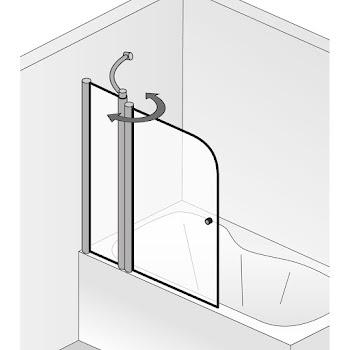Duschkabinen_exklusiv mit Festelement