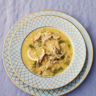 Avgolemono (Greek Lemon and Egg Soup) With Orzo