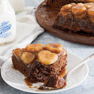 Chocolate-Peanut Butter-Banana Upside Down Cake.