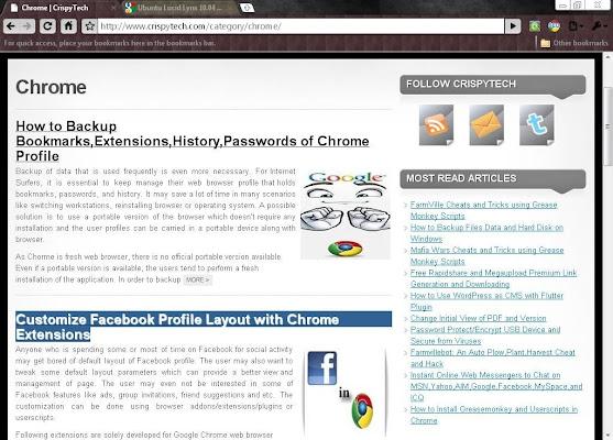 Ubuntu lucid lynx 1004 chrome web store overview stopboris Choice Image