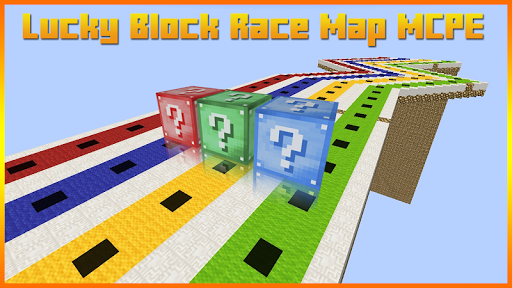 Lucky Block Race Map for MCPE 1.0 screenshots 1