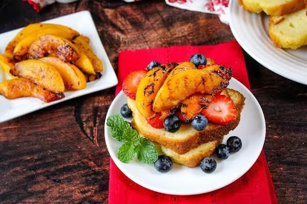 Drunken Grilled Peaches