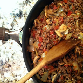 Hearty Mushroom and Onion Meat Sauce