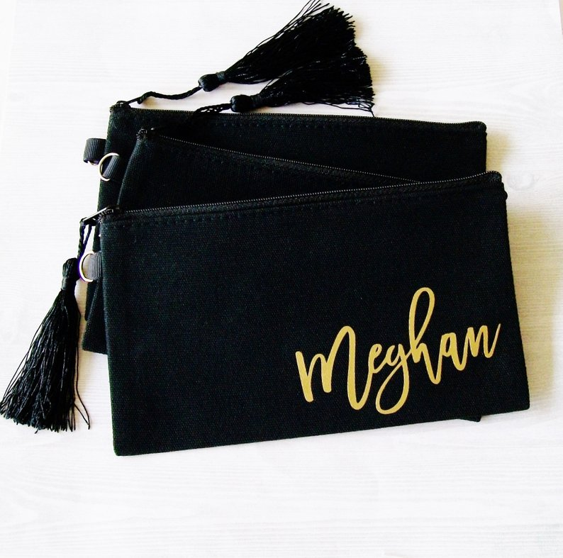 black makeup bag craft blank