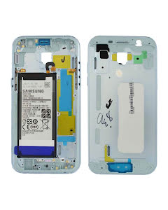 Galaxy A5 2017 Middle Cover with Battery Blue