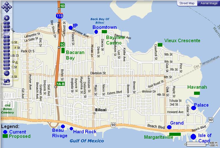 Casino Map Of Biloxi