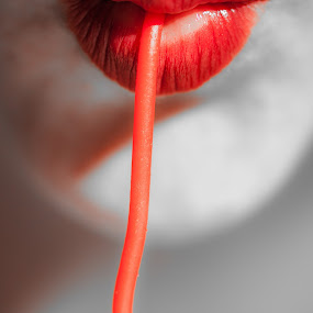 Unliving Colour by Brett Florence - People Body Parts ( colour, red, spaghetti, color, lips )