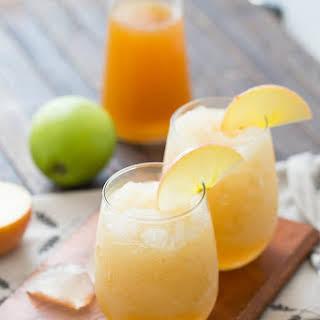 Caramel Apple Wine Slushies.