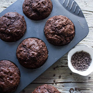 Big Double Chocolate Chip Muffins.