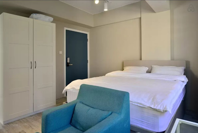 Luxury bedroom at Hollywood Road Serviced Apartments, Central