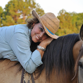 by Lisa Raith - People Portraits of Women ( female, woman, horse, cowgirl )