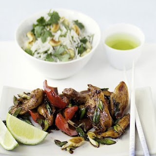 Stir-fried Chicken With Cashew and Coriander Rice.