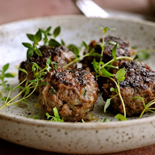 Deer Meatballs with Thyme and Bacon