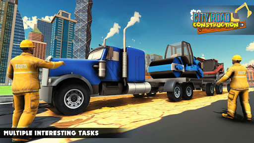 Mega City Road Construction Machine Operator Game modavailable screenshots 14