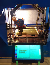 Photo: right now printing two name tags for my kids using Gcode Simulator & Printer