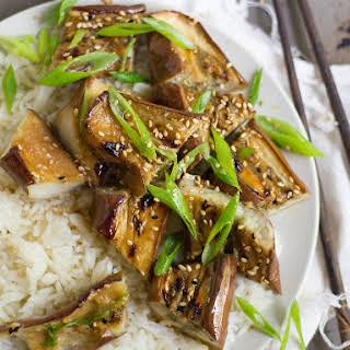Miso Glazed Eggplant.