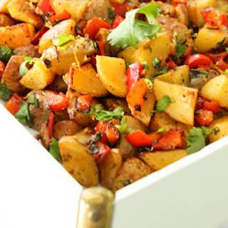 Spicy Middle Eastern Roasted Potatoes {Batata Harra}.