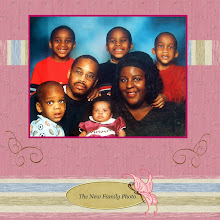 Photo: Kaleya's first family photo. November 2004. Papers are from Meryl Bartho's Summer Papers Kit; Gold swirlies are from Lauren Bavin's Divin Jewel Kit; Tag is from Jan Hosford's Fancy Schmancy Freebie
