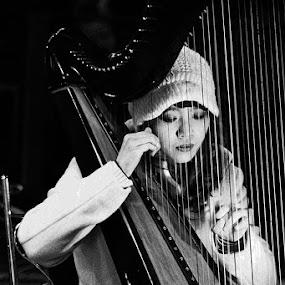 Xinmen Girl by Edwin Pfim - Black & White Street & Candid