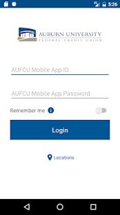 AUFCU Mobile App - náhled