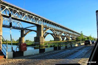 Photo: мостовая и пантонная переправа через Волгу в Нижнем