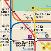 Map of NYC Subway: offline MTA – Ad Free!
