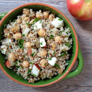 Warm Quinoa Salad with Apples, Walnuts and Chickpeas