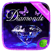 3D Diamonds GO Keyboard Animated Theme
