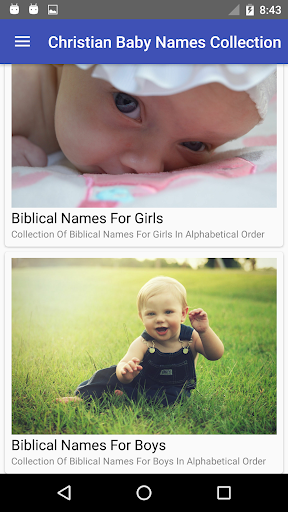 Christian Baby Name Collection Screenshot