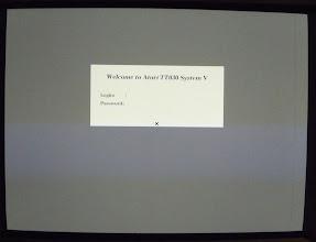 Photo: Atari System V login screen
