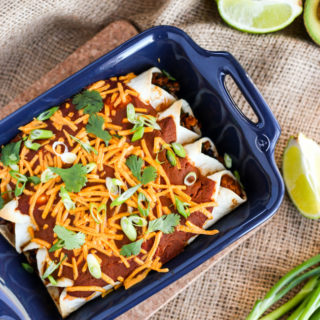 Easy Vegan Tofu & Black Bean Enchiladas