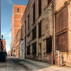 Service Drive by Christopher Pischel - Buildings & Architecture Other Exteriors ( urban, brick, architecture, downtown, alley )