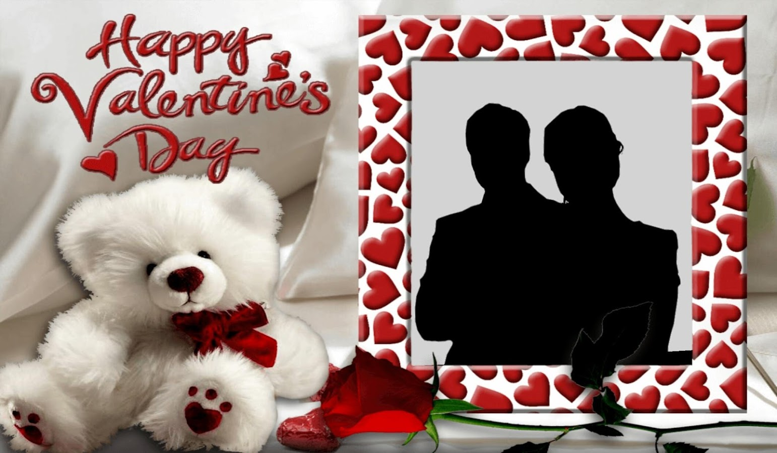 valentines day photo frame screenshot