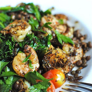 French Lentils with Kale and Shrimp Recipe