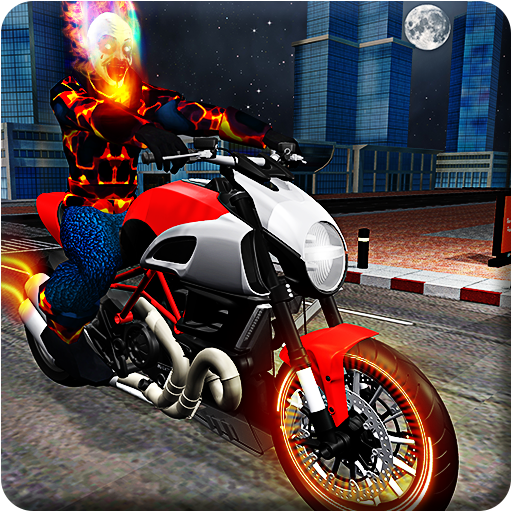 Ghost Bike Hero Blaze Fire Skull Rider Battle game (apk) free download for Android/PC/Windows