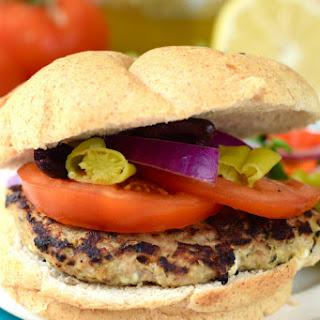 Feta Stuffed Greek Turkey Burgers