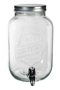 Vattenbehållare glas, vintage