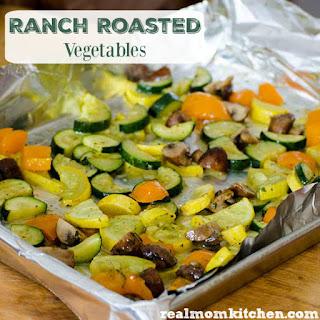 Ranch Roasted Vegetables.