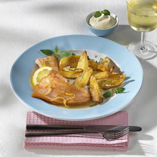 Salmon with Marjoram Potatoes