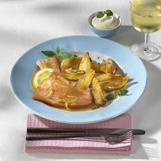 Salmon with Marjoram Potatoes.