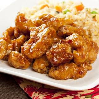 Orange Chicken With Brown Rice.