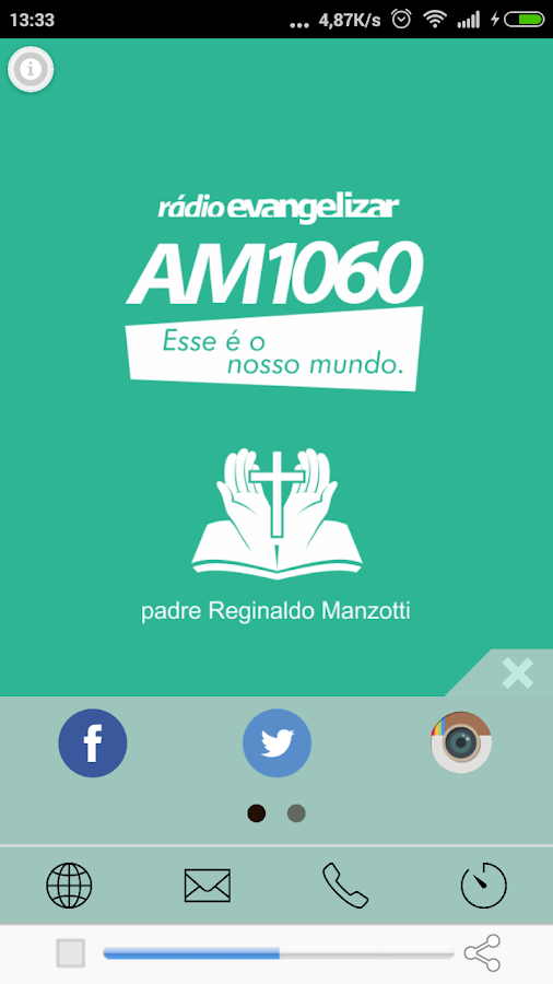Rádio Evangelizar AM 1060- screenshot